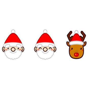 サンタさんとトナカイのイラスト|かわいいフリー素材、無料イラスト|素材のプチッチ