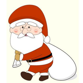 クリスマス・サンタクロースのイラスト:無料画像の素材屋花子