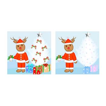 クリスマス素材・トナカイのイラスト フリー素材