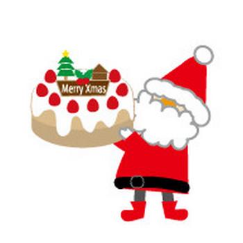 クリスマスのケーキのイラスト/無料イラスト/フリー素材