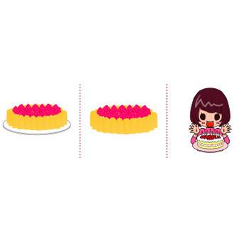 「ケーキ」イラスト無料