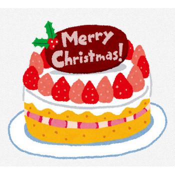 クリスマスケーキのイラスト「苺のケーキ」 | かわいいフリー素材集 いらすとや