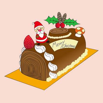 ノエルケーキ★クリスマスパーティークリスマスケーキ | 無料イラスト配布サイトマンガトップ