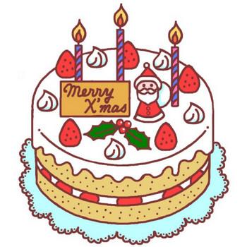 クリスマスケーキ(カラー)/フード・ケーキ1/クリスマスのイラスト素材