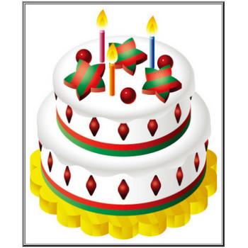 クリスマスのイラストNo.170『二段重ねケーキ』/無料のフリー素材集【花鳥風月】