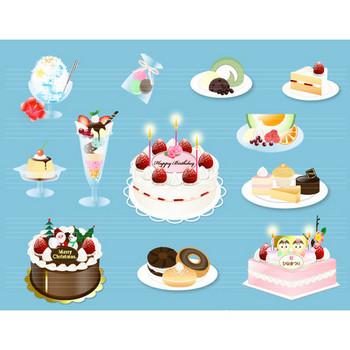No.990 スイーツ デザート・ケーキのイラスト - イラストダウンロード販売|D-Lemon
