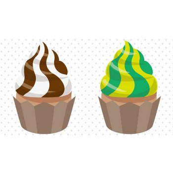 無料のカップケーキのイラスト – クリスマス・ハロウィン、お正月イラストEVENTs Design