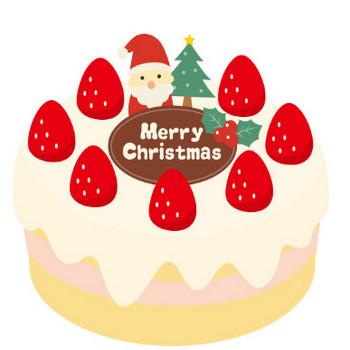 クリスマスケーキのイラスト<生クリーム> | 無料フリーイラスト素材集【Frame illust】