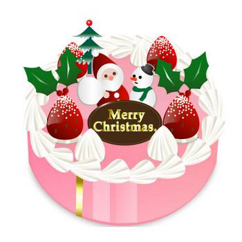 クリスマスケーキのイラスト | 無料イラスト素材集|Lemon