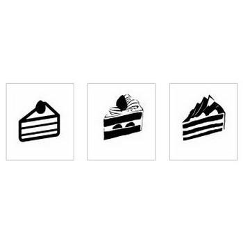 クリスマスケーキ|シルエット イラストの無料ダウンロードサイト「シルエットAC」