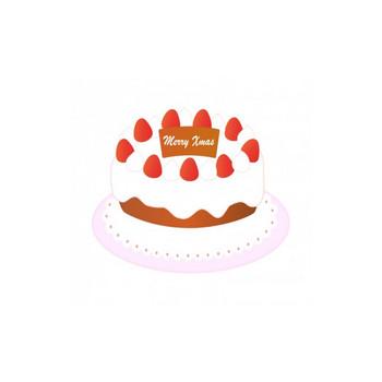 いちごのクリスマスケーキのイラスト | イラスト無料・かわいいテンプレート