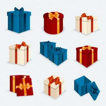 クリスマスプレゼントボックスがパック ベクター画像   無料ダウンロード