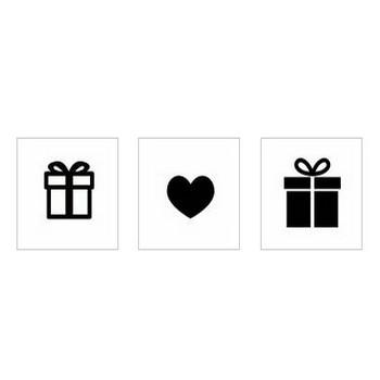 プレゼント|シルエット イラストの無料ダウンロードサイト「シルエットAC」