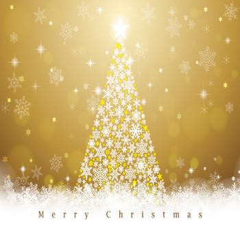 [フリーイラスト] トップスターの輝くクリスマスツリーの背景でアハ体験 - GAHAG | 著作権フリー写真・イラスト素材集