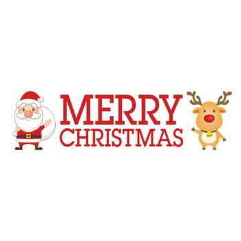 クリスマスのタイトル文字素材「MERRY CHRISTMAS」 | 無料フリーイラスト素材集【Frame illust】