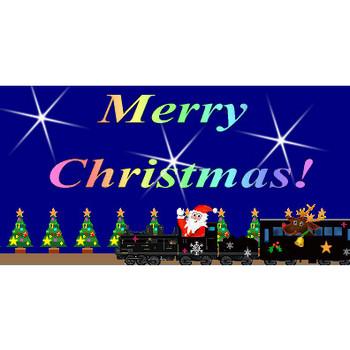 クリスマス電車イラスト素材
