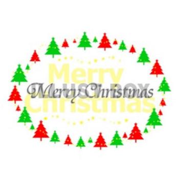 無料イラスト メリークリスマス (ロゴ&ツリー)