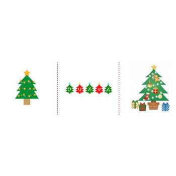 「クリスマスツリー」イラスト無料
