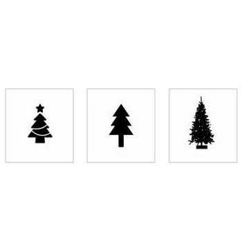 クリスマスツリー|シルエット イラストの無料ダウンロードサイト「シルエットAC」