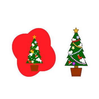 クリスマスツリーのイラスト素材フリー