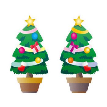 フリーイラスト素材「クリスマスツリー」