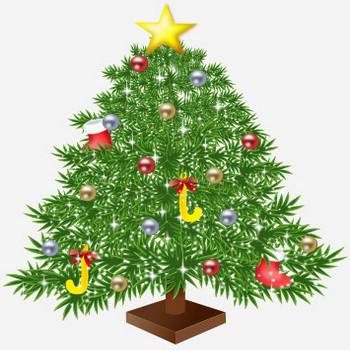 クリスマスツリーのイラスト | 無料イラスト作成ソフトInkscape(インクスケープ)の作品集