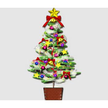 クリスマス素材・イラスト クリスマスツリー