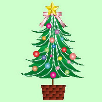 無料|WEB素材|イラスト|クリスマス/ツリー1