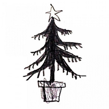 クリスマスツリー01 | ナチュラル素材 - 商用可の無料イラスト素材