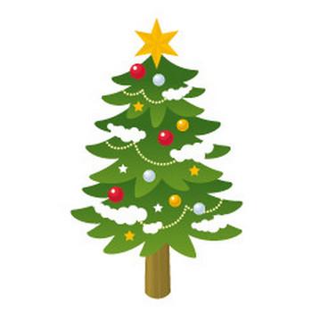 クリスマスツリー - イラスト素材 | 商用利用可のベクターイラスト素材集「ピクト缶」