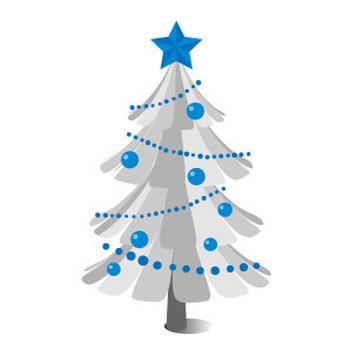 ホワイトクリスマスツリー - フリーイラスト素材 「趣味で作ったイラストを配るサイト」