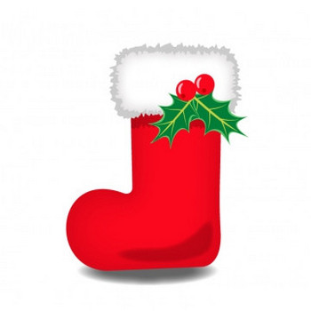 クリスマスブーツのイラスト素材 | イラスト無料・かわいいテンプレート