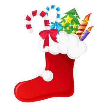 クリスマスブーツ/靴下のイラスト素材 | ストックマテリアル