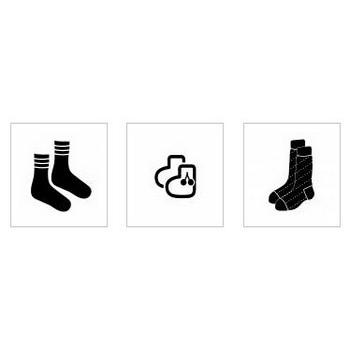 靴下|シルエット イラストの無料ダウンロードサイト「シルエットAC」