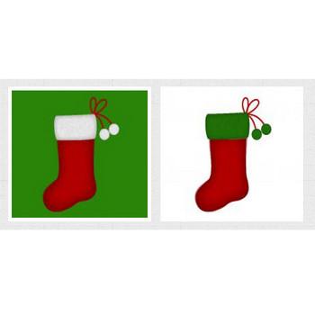 クリスマス靴下のイラスト イラスト無料配布!商用利用可・リンクフリー|Frogs Art
