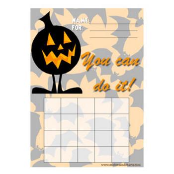 Free printable Halloween sticker charts, Halloween stamp sheets and Halloween printables