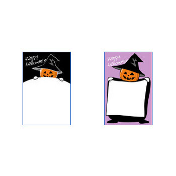 ハロウィンのポストカードテンプレート1 かわいい無料はがきテンプレート はがき絵箱