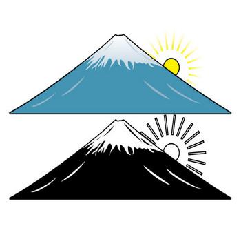 イラストポップの季節の素材 | 春夏秋冬の行事や風物のイラスト1月1-No19富士山の無料ダウンロードページ