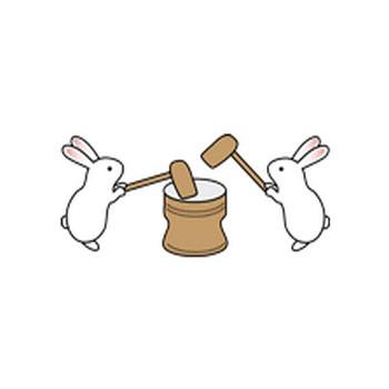 MiRimiri? - kogumarecord: 秋・お月見・餅つきうさぎのイラスト-無料イラスト/フリー素材