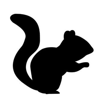 リス|小動物|動物シルエット|無料イラスト素材