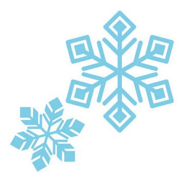 「キラキラした雪の結晶」 - 無料イラスト愛