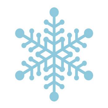 雪の結晶のシルエットイラスト | 無料フリーイラスト素材集【Frame illust】