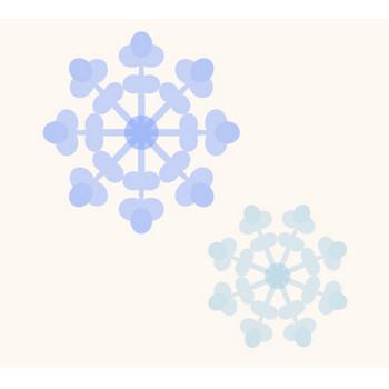 かわいい雪の結晶(透過)イラスト | 商用フリー(無料)のイラスト素材なら「イラストマンション」