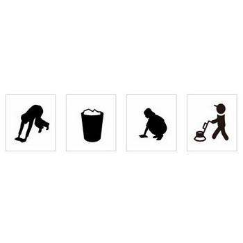 掃除|シルエット イラストの無料ダウンロードサイト「シルエットAC」
