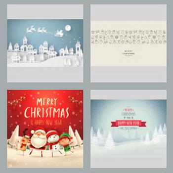 抽象的なクリスマス背景、ベクトル、イラスト ベクター画像   無料ダウンロード