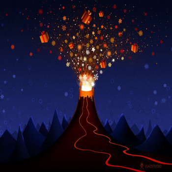 Christmas Volcano by vladstudio on DeviantArt