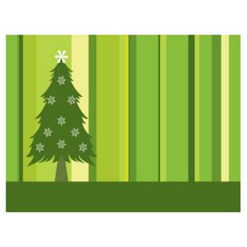 葉っぱや草木のイラスト/壁紙・背景No.083『クリスマスツリー・緑』