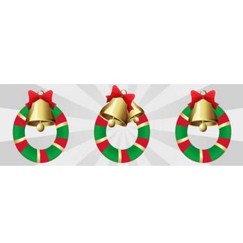クリスマスリース/クリスマス飾りのイラスト素材|商用可能な無料(フリー)のイラスト素材ならストックマテリアル