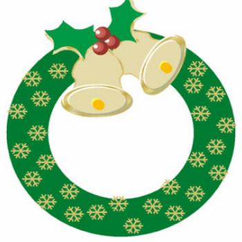 クリスマスリース・イラスト♪ 毎日が、笑顔で元気♪/ウェブリブログ