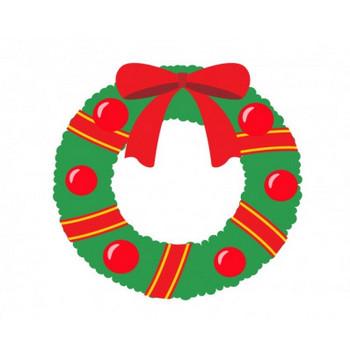 クリスマスリースのイラスト素材01 | イラスト無料・かわいいテンプレート